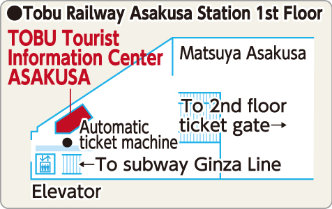 TOBU Tourist info map